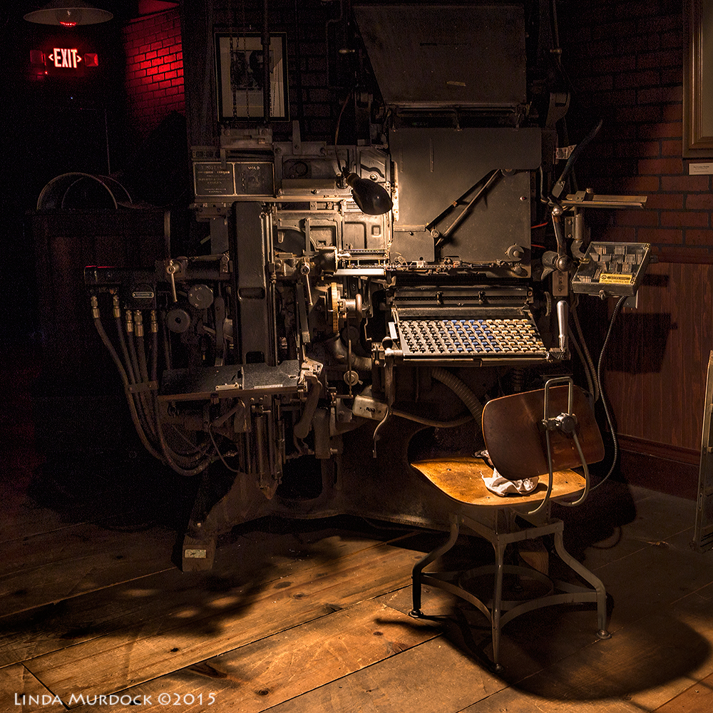 20th century Linotype originally purchased for the Houston Press - click to embiggen    Sony A77II with Sigma 10-20 f/3.5 at  f/9.0  8 sec ISO  100; tripod