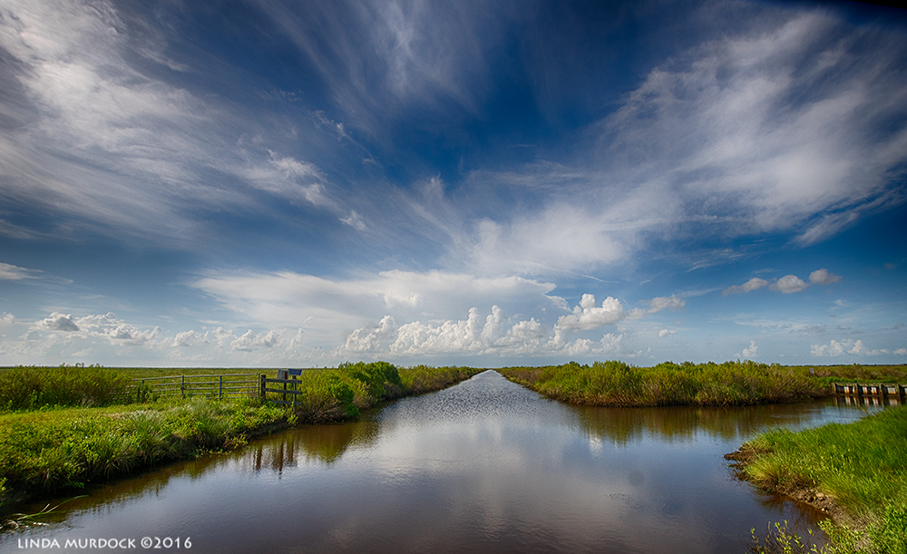 Afternoon sky over Anahuac Wildlife Refuge Sony A77II with Sigma f/3.5 10-20mm HDR