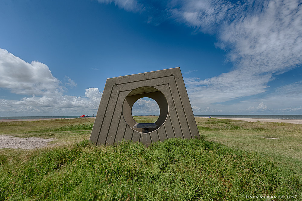 Beach shelter in a field of grass burrs   Nikon D810 with Tamron 15-30 f/2.8 ~  ISO 200 f/8.0 HDR