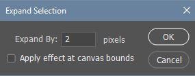 Expand selection dialog box