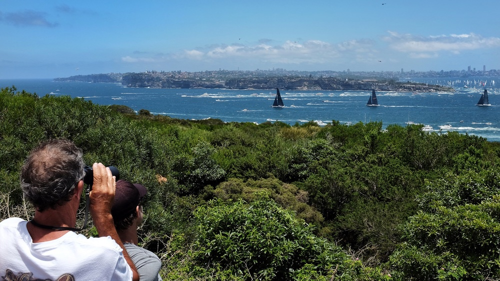 The boats leaving Sydney Harbour.