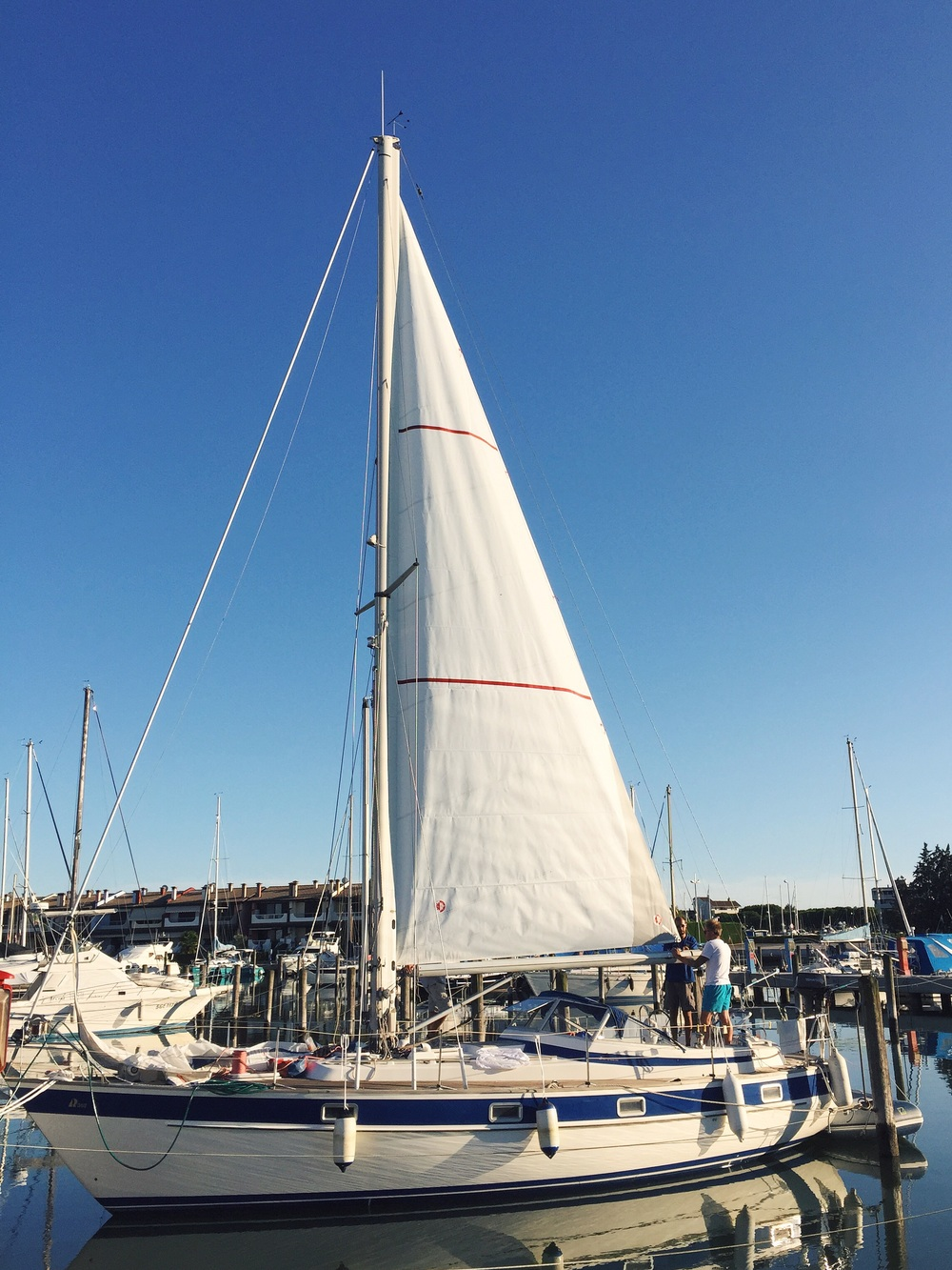 New main sail on our Hallberg Rassy 352