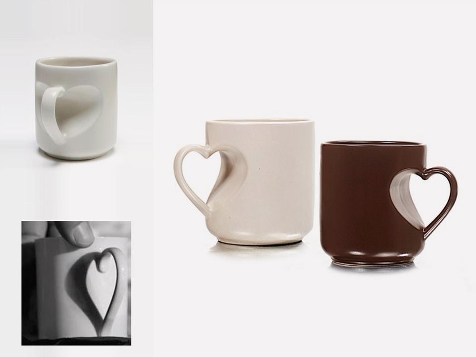 Heart Shaped Mug Iris Zohar Product Design