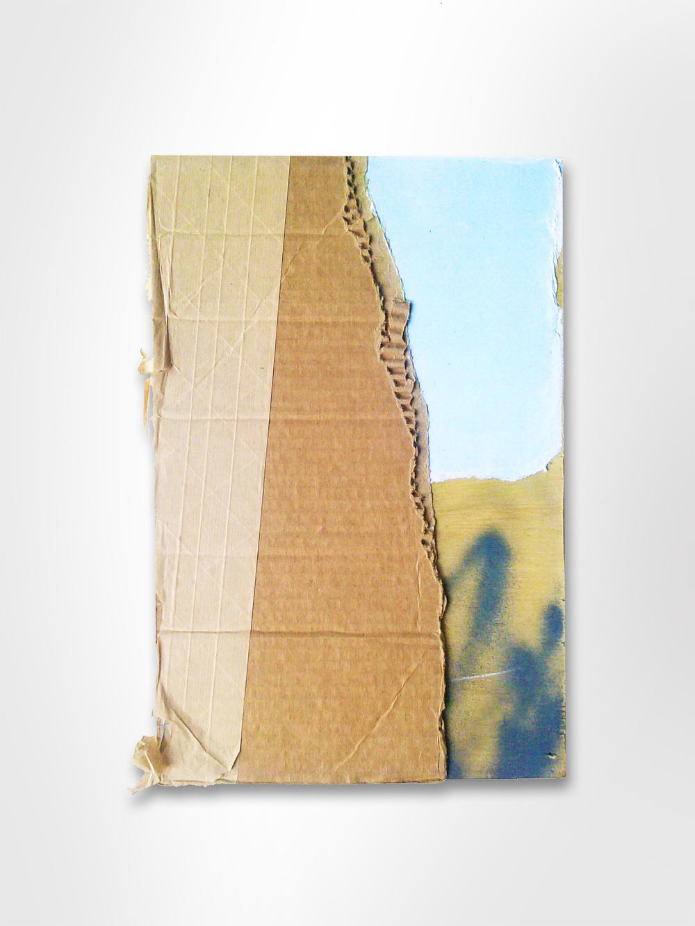 Mixed Media Cardboard & Paper Collage on wood web.jpg
