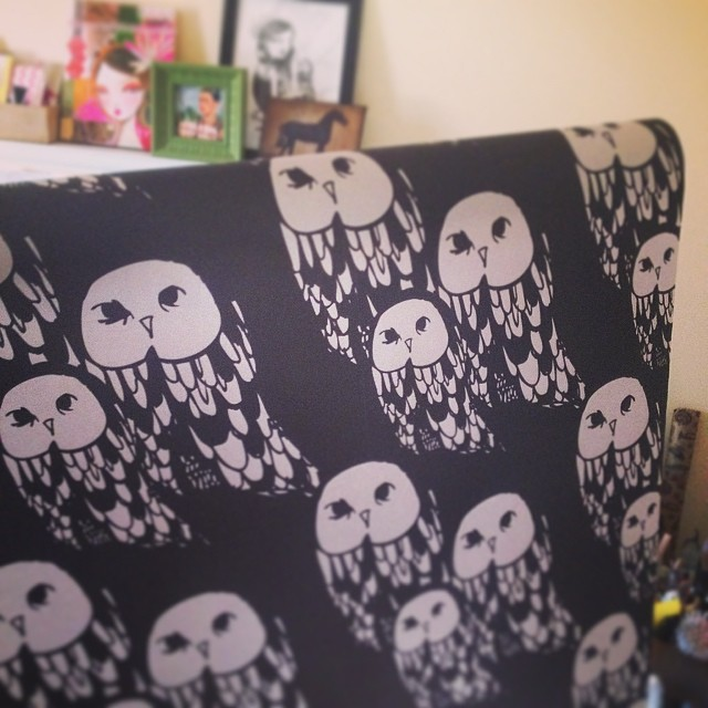 My owls made it as a pattern on gift wrap!! spoonflower 13.00 per roll.