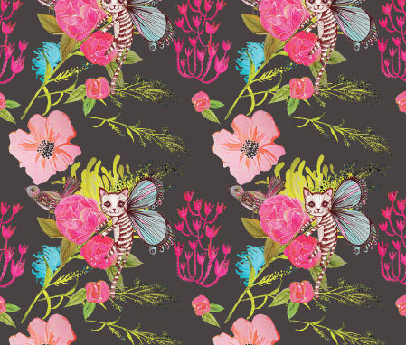 Catfly, on Spoonflower, ready to go.