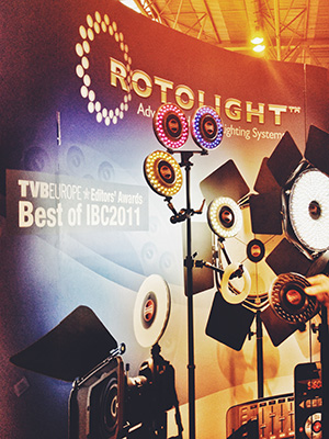 The Rotolight, a powerful and versatile LED continuous lighting attachment that was used to light the 'Captain Phillips' movie.