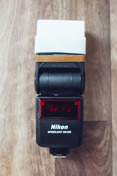 My first and only speedlight.  I picked this one up when I had to shoot the occasional wedding when I started out. The Nikon SB600 is very light and fairly easy to use even if the menu system is a little convoluted.