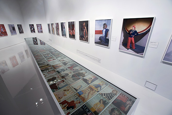Horst in colour. In this room the V&A showcase all of Horst's Vogue covers plus some his huge full colour prints from the time.