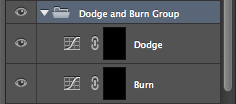 Grouping your adjustment layers together will make them a lot easier to manage later on.