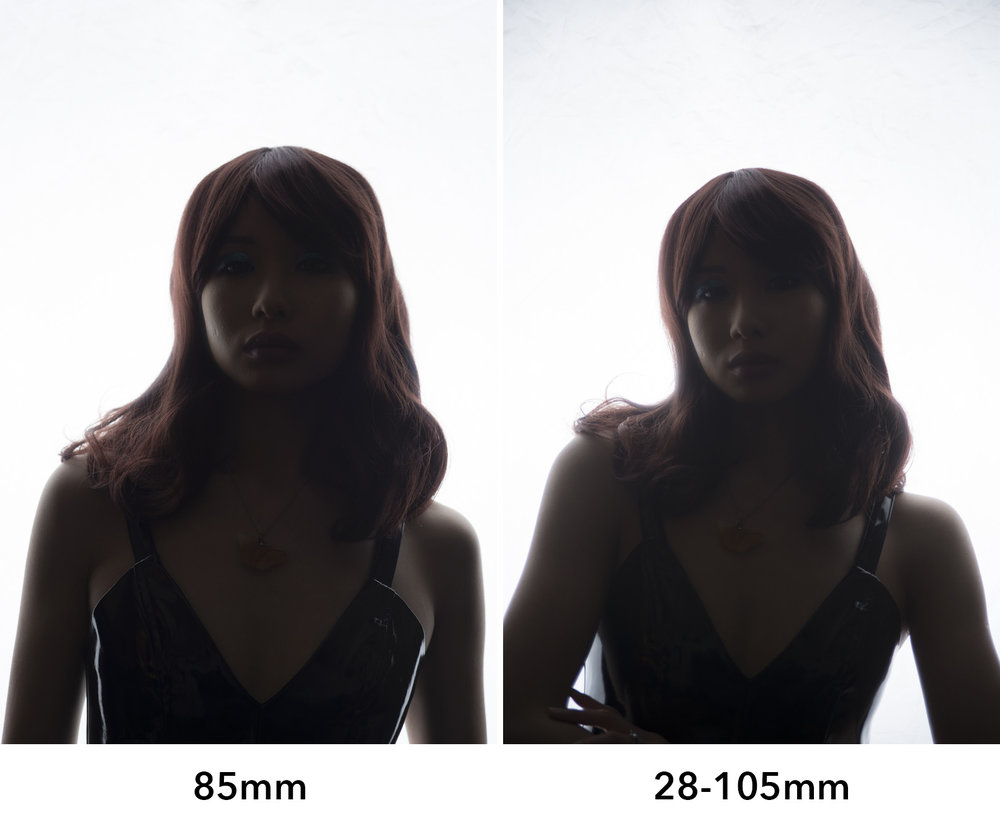 What you're looking for is areas that should really be in shadow but are a milky grey colour instead, that is the result of flare. In the above shots you should see that the prime lens simply has more overall image contrast.