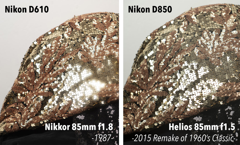 When considering the sharpness of a lens, be very careful of what camera actually took the shot you are reviewing. Comparing the D610 with a Nikkor 85mm image versus a D850 with a vintage 85mm lens yields results that are misleading. The Helios looks far sharper when in reality it most certainly isn't.