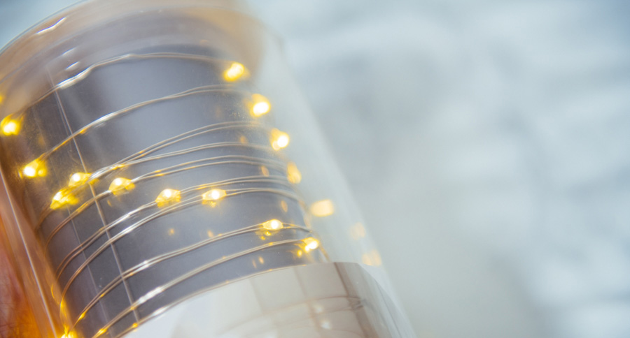 These tiny little LED fairy lights are very cheap and also incredibly easy to use.