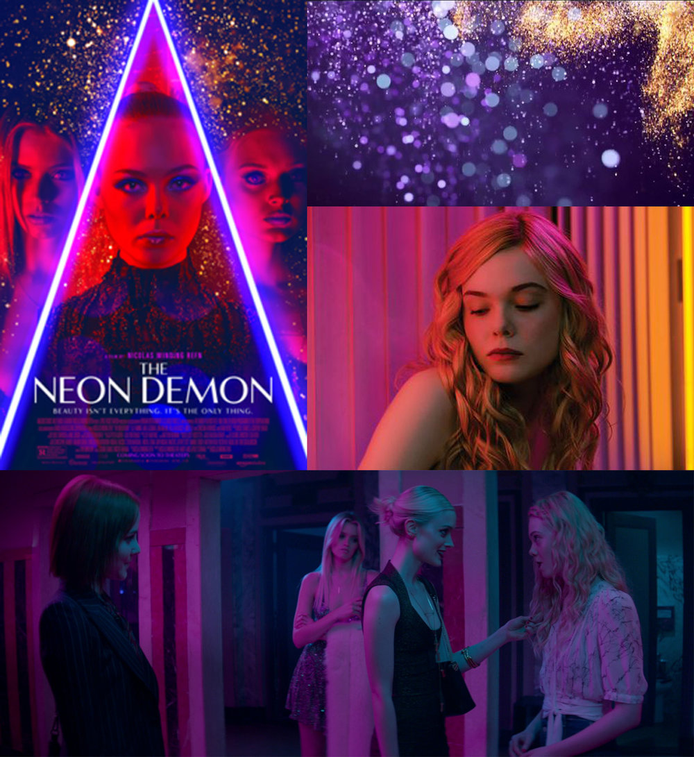 Neon Demon, another film by Nicolas Winding Refn and arguably a movie that uses extremes of colour to set mood and imply intrigue.