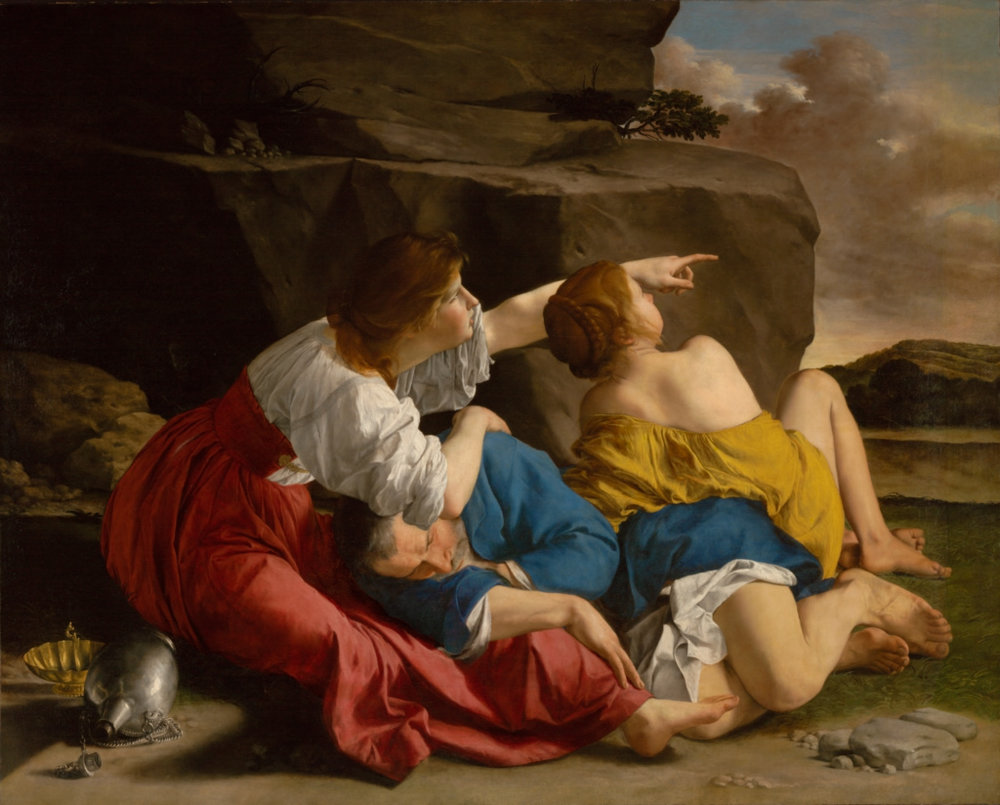Click to enlarge -  Lot and His Daughters  by Orazio Gentileschi 1622