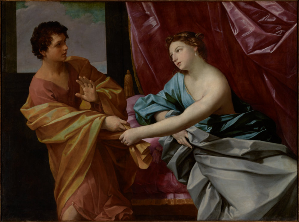 Click to enlarge -  Joseph and Potiphar's Wife  by Guido Reni 1630