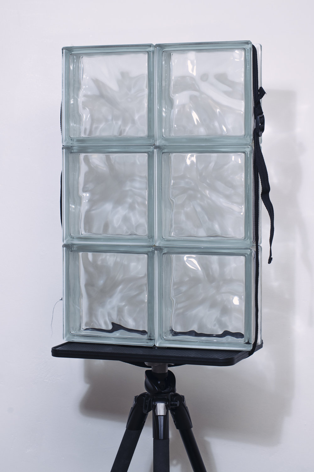 I supported my mini-glass wall on a tripod and laptop plate attachment.