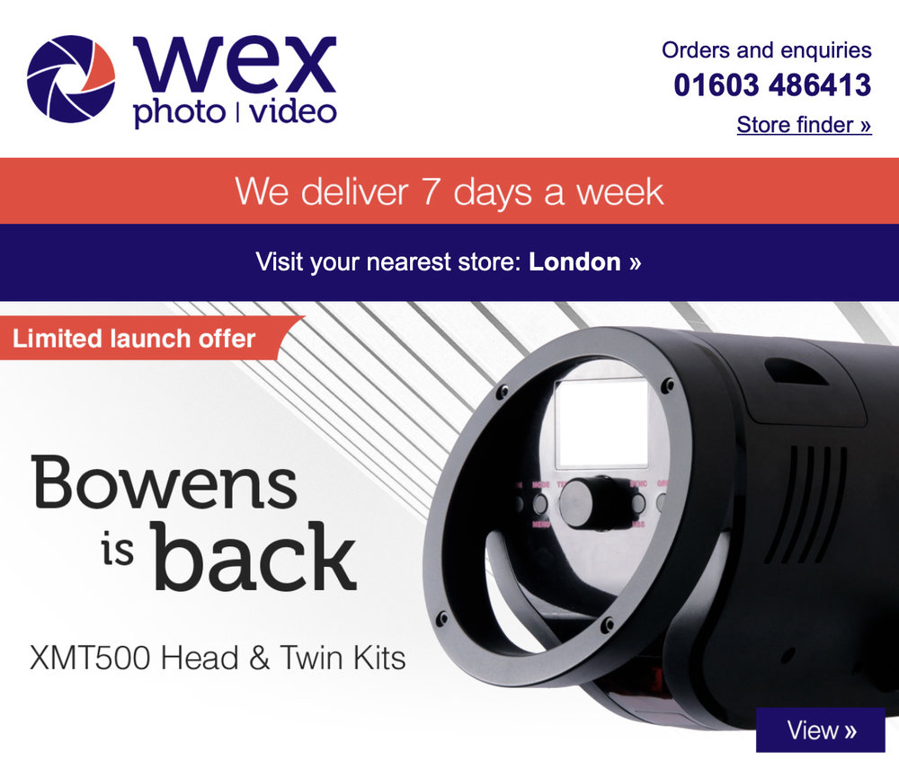 In late January 2019, the online photographic retailer announced 'Bownes is Back'