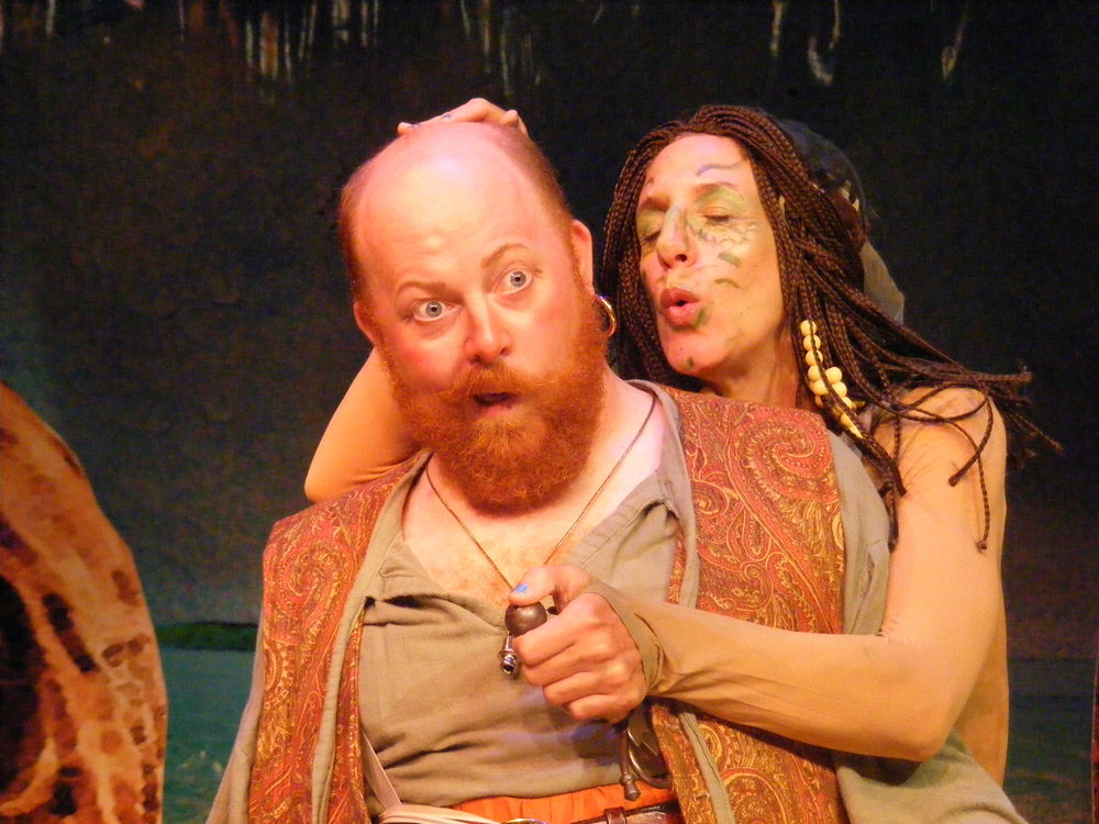 Tincalo (Brett Sullivan Santry) and Sycorax (Jennifer Tober)