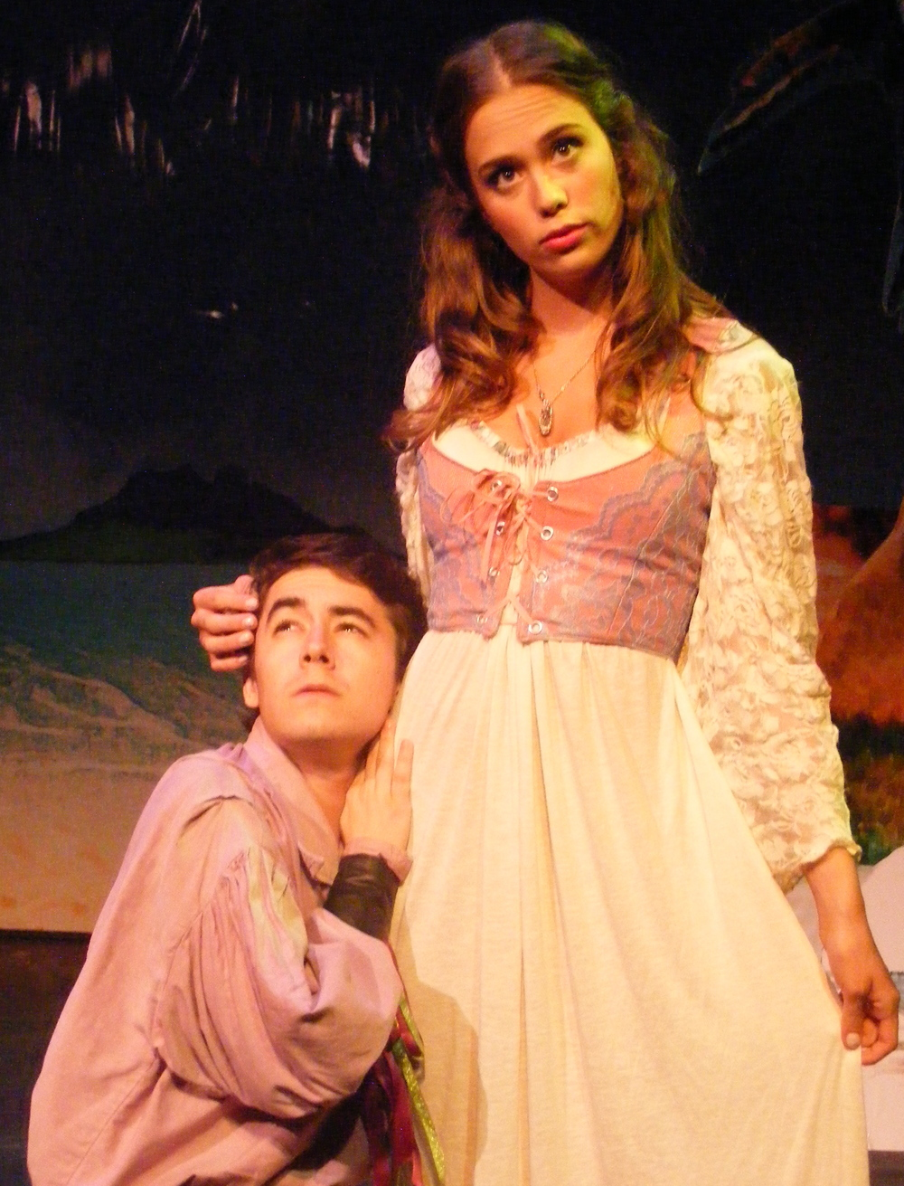 Hippolito (Nick Benninger) with Dorinda (Claire Chapelli)