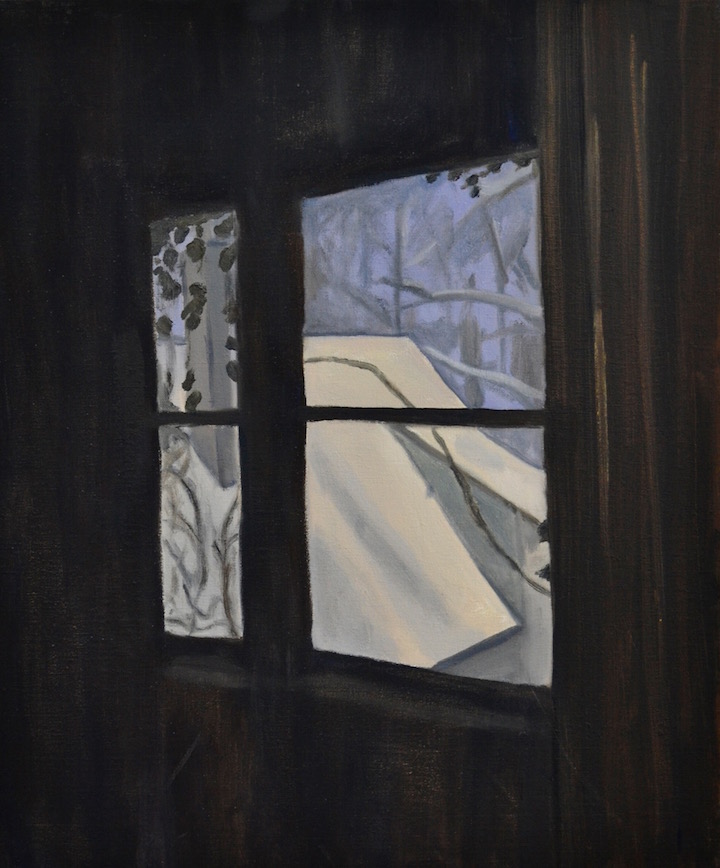 Untitled (View on Snow-covered Roof)