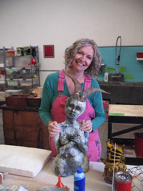 Atlanta sculptor Annie Evans