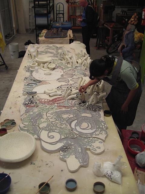 Jovenes Creadores grant recipient Carolina Parra Arce - mural project