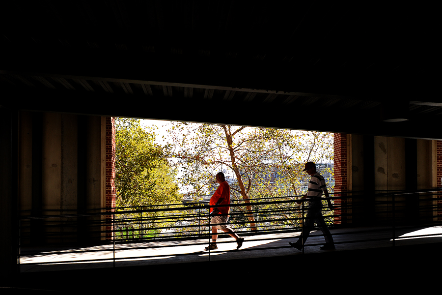 Orioles fans walk down a ramp located in Oriole Park at Camden Yards on Sept. 29, 2013.