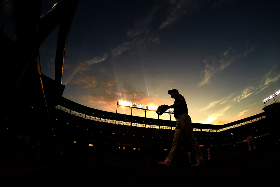Baltimore Orioles second baseman Ryan Flaherty walks off the field during a home game against the Tampa Bay Rays on June 27, 2014 at Oriole Park at Camden Yards in Baltimore, Maryland.