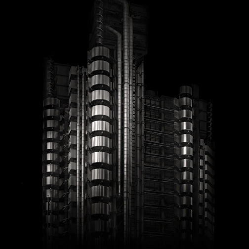 "London  Lloyds Building, 2007 - D-print  39.3"" x 39.3"" (100 x 100 cm)"