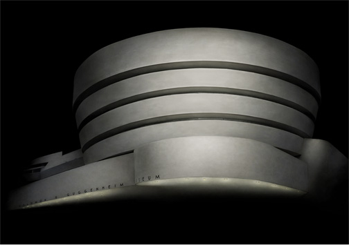 "New York  Guggenheim Museum, 2010 - D-print on rag paper  39.3"" x 56"" (100 x 142 cm)"