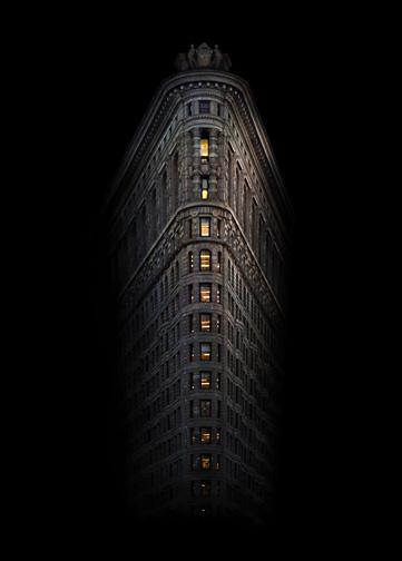 "New York  Flat Iron Building 1, 2008 - D-print on rag paper  39.3"" x 27.5"" (100 x 70 cm)"