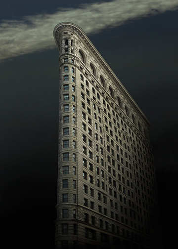 "New York  Flat Iron Building 2, 2011 - D-print on rag paper  22"" x 15.7"" (56 x 40 cm)"
