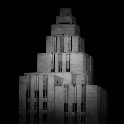 "New York  Art Deco Building, 2011 - D-print on rag paper  39.3"" x 39.3"" (100 x 100 cm)"