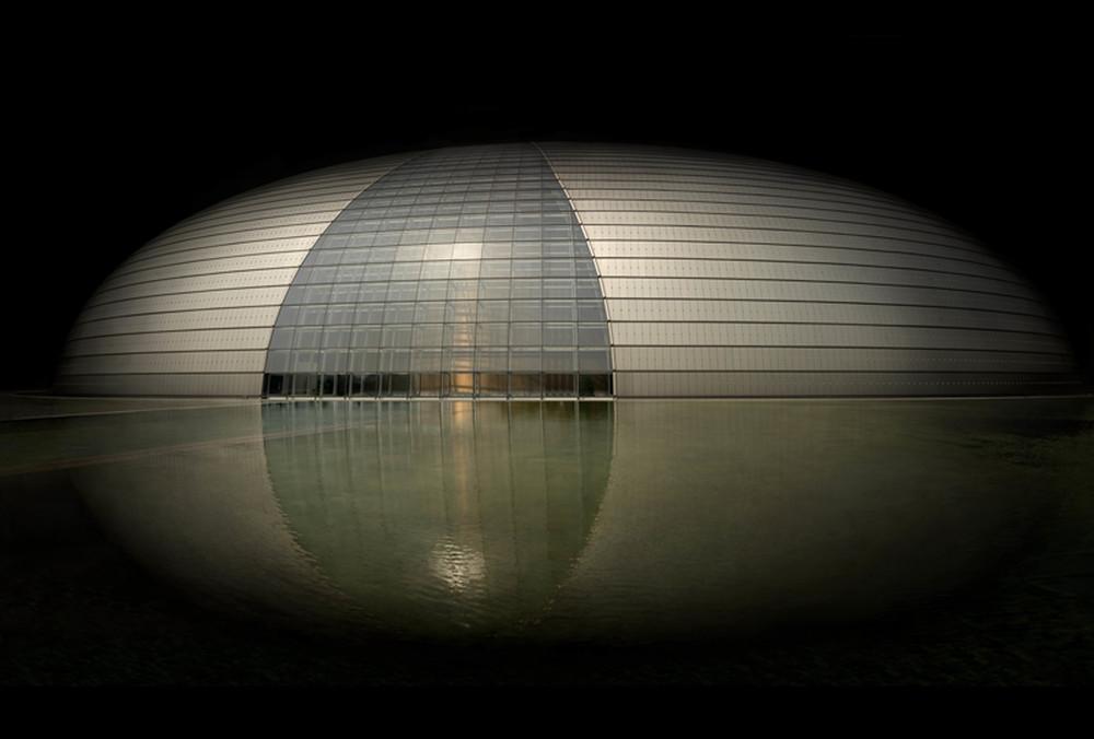 "China  Opera House Beijing, 2012 - ed. of 8 - D-print  39.4"" x 78.7"" (100 x 200 cm)"