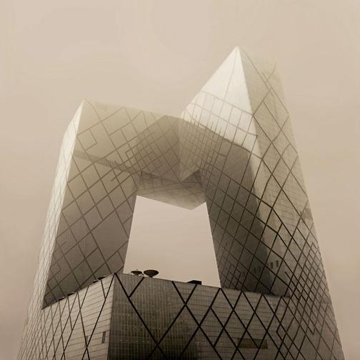 """China  CCTV Beijing, 2012 - ed. of 8 - D-print  39.4"""" x 39.4"""" (100 x 100 cm)"""