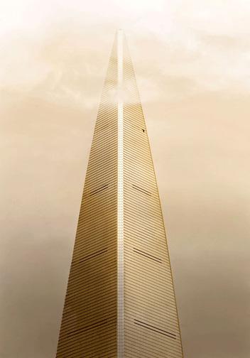 "China  World Finance Center Shanghai, 2012 - ed. of 8 - D-print  39.4"" x 27.5"" (100 x 70 cm)"