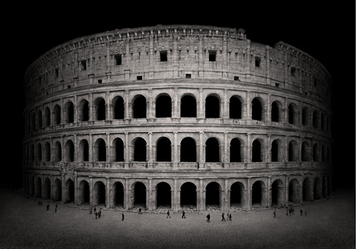 """Italy  Colosseo, 2011 - D-print on rag paper  39.3"""" x 56"""" (100 x 142 cm)"""