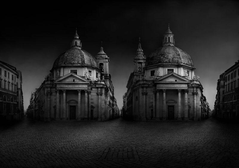 "Italy  Piazza del Popolo, 2011 - D-print on rag paper  39.3"" x 56"" (100 x 142 cm)"