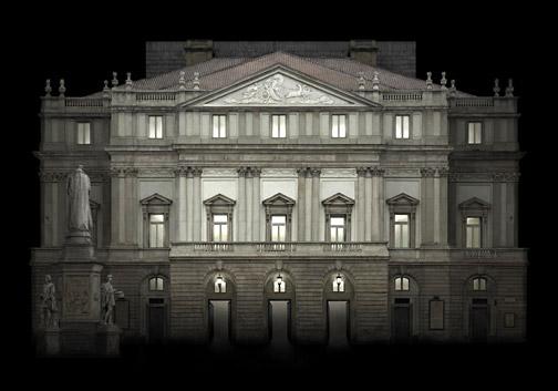 "Italy  Teatro alla Scala, Milan, 2010 - D-print on rag paper  39.3"" x 56"" (100 x 142 cm)"