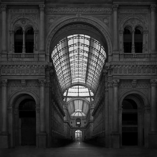 """Italy  Galleria Vittorio Emanuele, Milan, 2010 - D-print on rag paper  39.3"""" x 39.3"""" (100 x 100 cm)"""