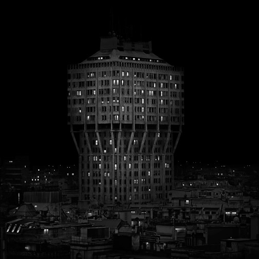 "Italy  Torre Velasca, Milan, 2010 - D-print on rag paper  39.3"" x 39.3"" (100 x 100 cm)"