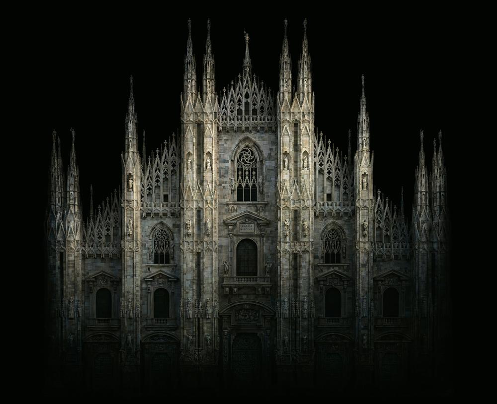 "Italy  Duomo, Milan, 2010 - D-print on rag paper  39.3"" x 48.5"" (100 x 123 cm)"