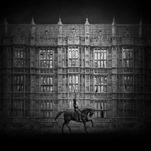 "London  House of Parliament, 2009 - D-print on rag paper  39.3"" x 39.3"" (100 x 100 cm)"