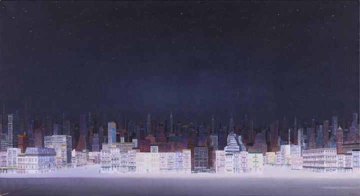 New York Starry Night , 2010  Acrylic on canvas, 47 1/4 x 86 5/8 inches (120 x 220 cm)