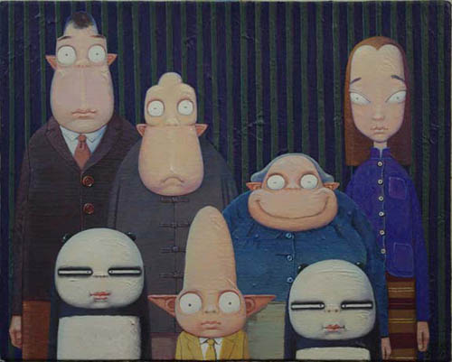 XIAO TANG'S FAMILY (2012)  Acrylic on canvas / 40 x 32 cm
