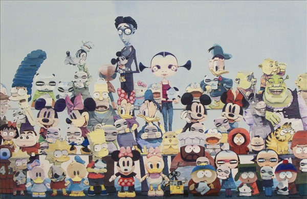 Group photo, (2010)   Acrylic on canvas / 170 x 100 cm