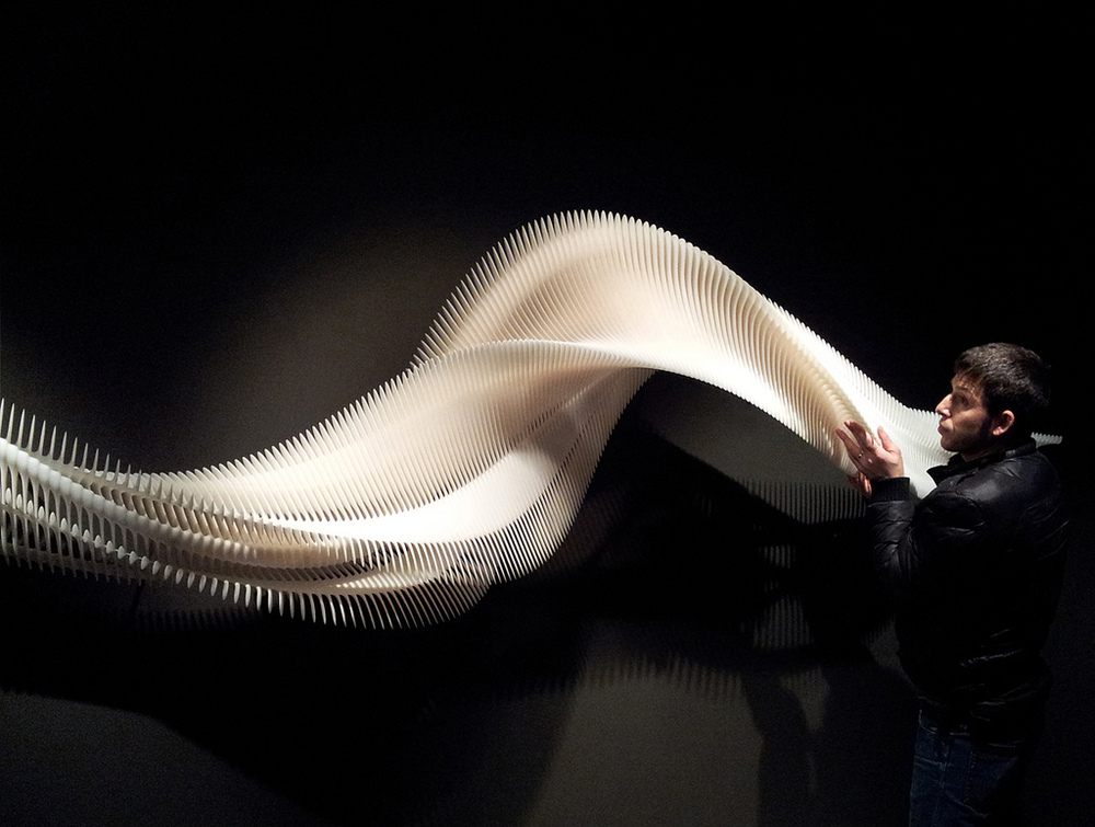 The Art & Science of Supernatural Motion (2013) Resin, Stereolithography - 4.20m x 0.65m x 0.65m