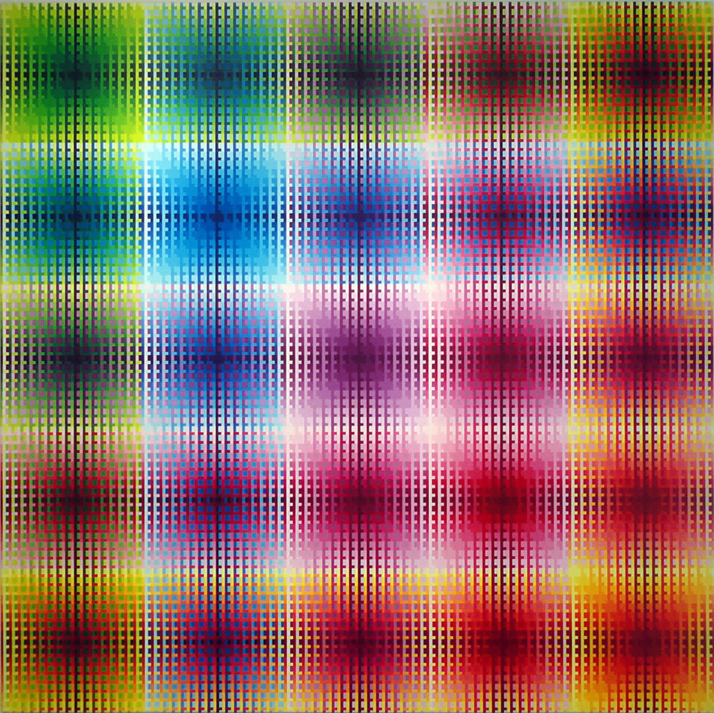 Spectrum #11, 2009 , Acrylic on canvas , 60 x 60 inches
