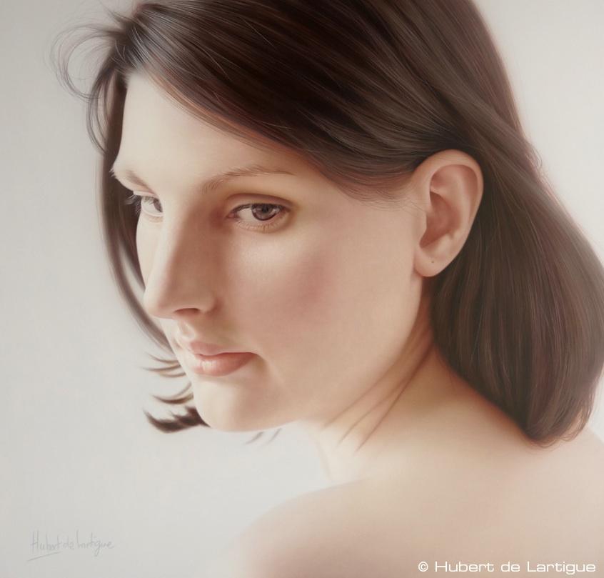 Marie - © Hubert de Lartigue - Octobre 2012 - Acrylique sur toile / 40 x 40 cm (acrylics on canvas / 15.74 x 15.74 inches)